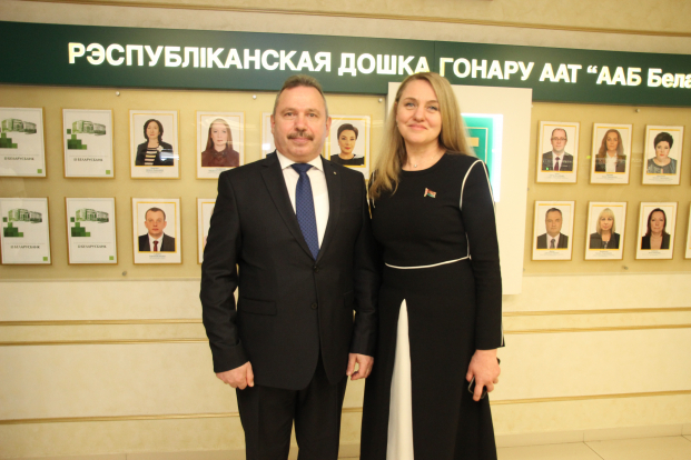 Вместе с членом Совета Республики и руководителем Беларусбанка Виктором Ананичем в родных стенах